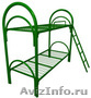 кровати металлические одноярусные и двухъярусные для строителей и рабочих