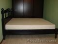 Кровать двухспальная из натурального дерева. Берёза - цвет венге.