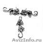 Веселые котята - набор украшений из серебра