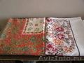 Скатерти льняные с ярким орнаментом 2 шт