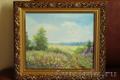 Картина с летним пейзажем