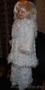 Белоснежный комплект (пальто-кардиган,  брюки-бриджи)
