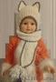 Шапочка-шарф Кошка для девочки