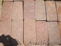 Натуральный камень Красный песчаник пиленый + галтованный (плитка)