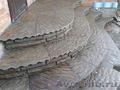 Камень натуральный природный песчаник серо-зеленый Рыбка